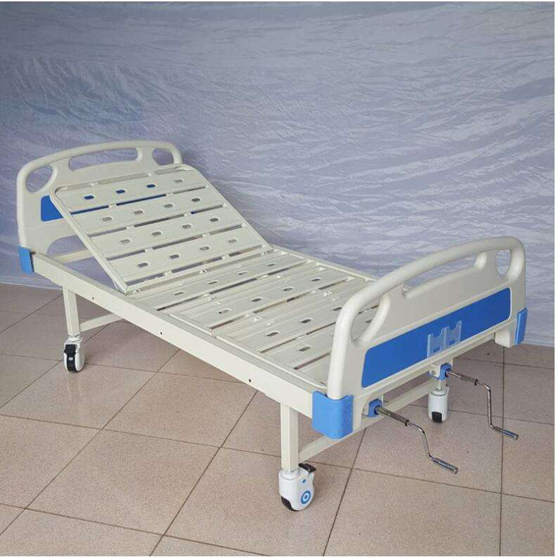 Cheap price metal simple used manual nursing hospital sick bed for sale