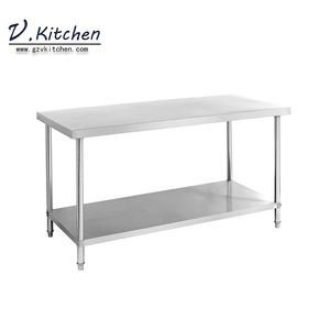 global restaurant hot sale item commercial optional thickness and style high quality work table stainless steel