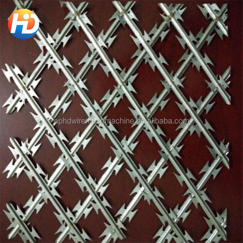 low price concertina hot dipped galvanized diamond welded decorative razor barbed wire mesh flat wrap prison chain link fences