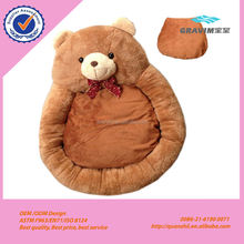 Custom cute colorful soft giant bear shape pet bed with cushion