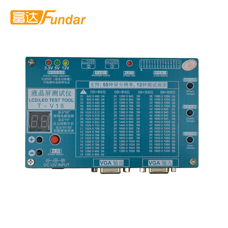 LED LCD Screen Tester Tool For TV Laptop Repair With Built-in 55 Kinds of Lvds Screen Resolutions Support 7-84""
