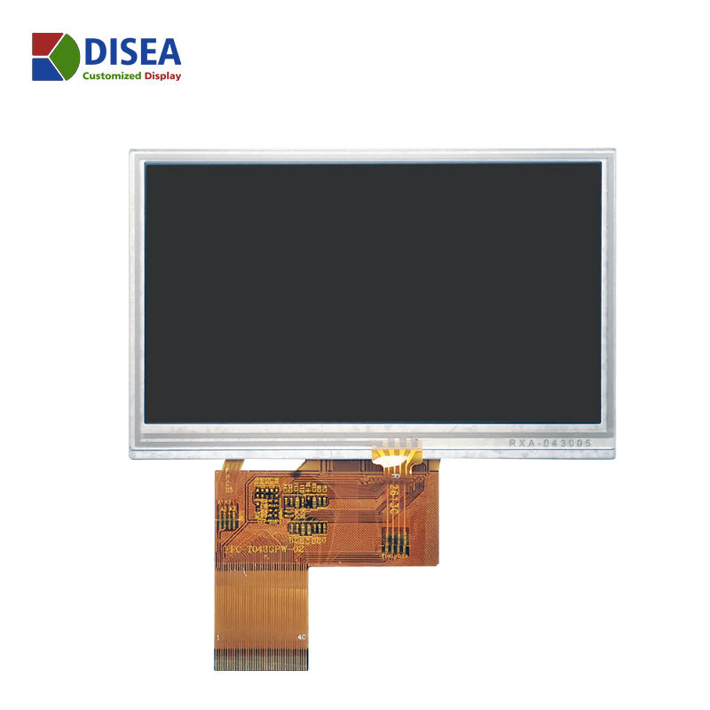 RGB 24BIT/ 40PIN 480*272 4.3 zoll TFT LCD Screen With Resistive Touch Panel