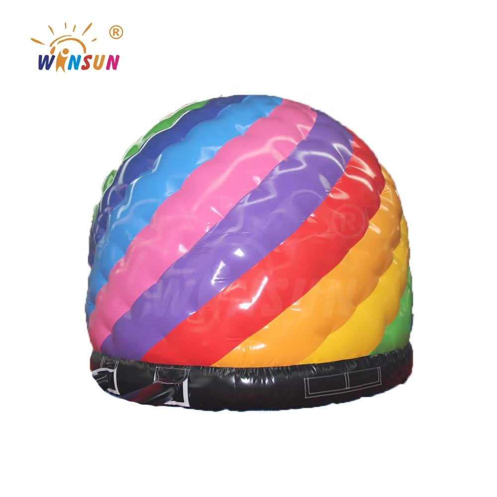 Tarpaulin PVC colorful inflatable disco dome jumper for sale