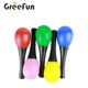 Custom ABS Plastic Maracas Shaker Egg Party Favor Rattle Baby Percussion Hammer Instruments Musical Toy Classroom Prize Supplies