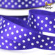Cheap Wholesale Made In China Purple Colour white Dots Satin Sash Ribbon Silk Satin Ribbon