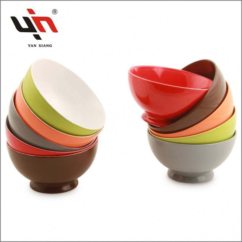 2019 New High Quality Ceramic Bowl Custom logo Serving bowl