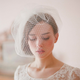 fashion headpiece wedding dress accessories gorgeous personalized beaded lace trimming bridal birdcage veil