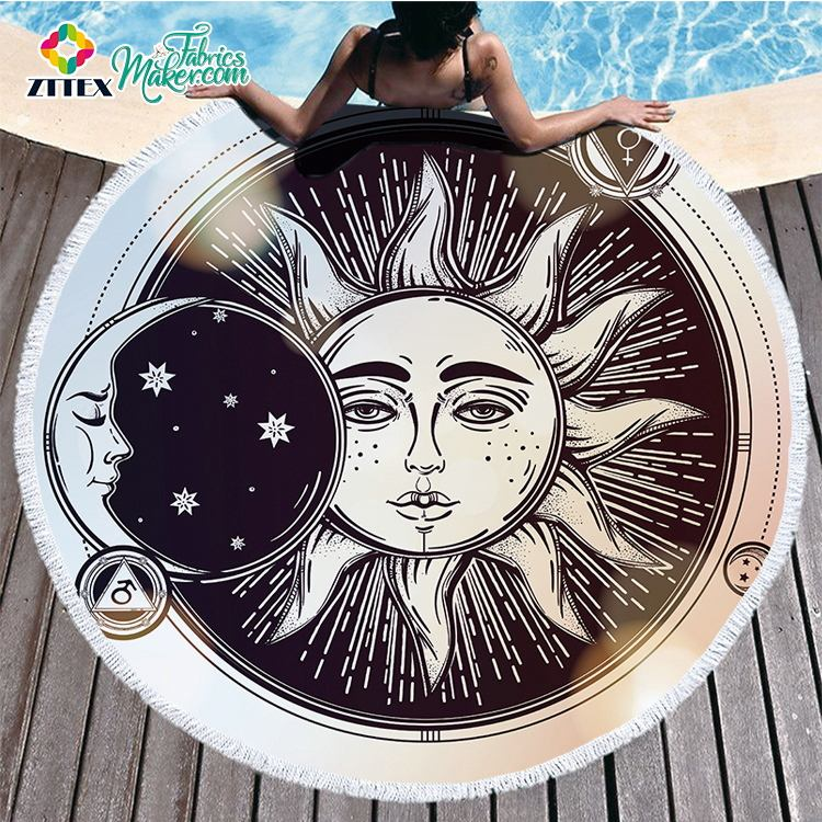 ZTTEX New popular printing adult hooded surf poncho beach towel