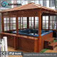Hot sale European design Outdoor hot tub gazebo with cedar material gazebo for hot tub