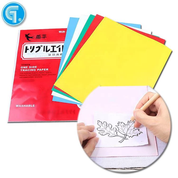 High quality 5 color sheets graphite tracing carbon paper one time carbon paper