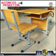 High school furniture classroom tables and chairs/old wooden top school chairs for sale