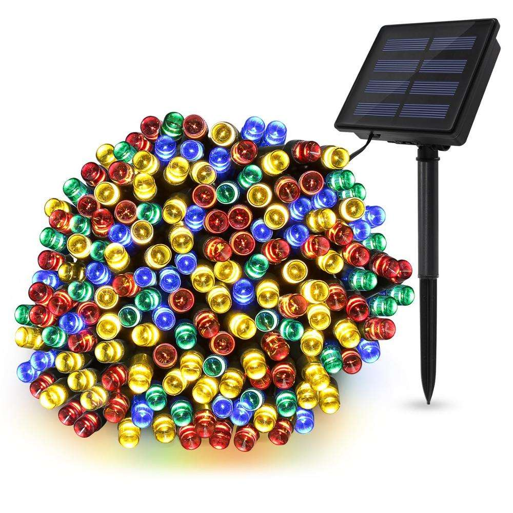 20/30/50/100/200/300/400/800 LEDs Christmas Solar Led Lights for Garden, Patio, Home, Wedding, Party, Christmas Decorations