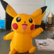 Lovely yellow inflatable pikachu cartoon inflatable pokemon for advertising