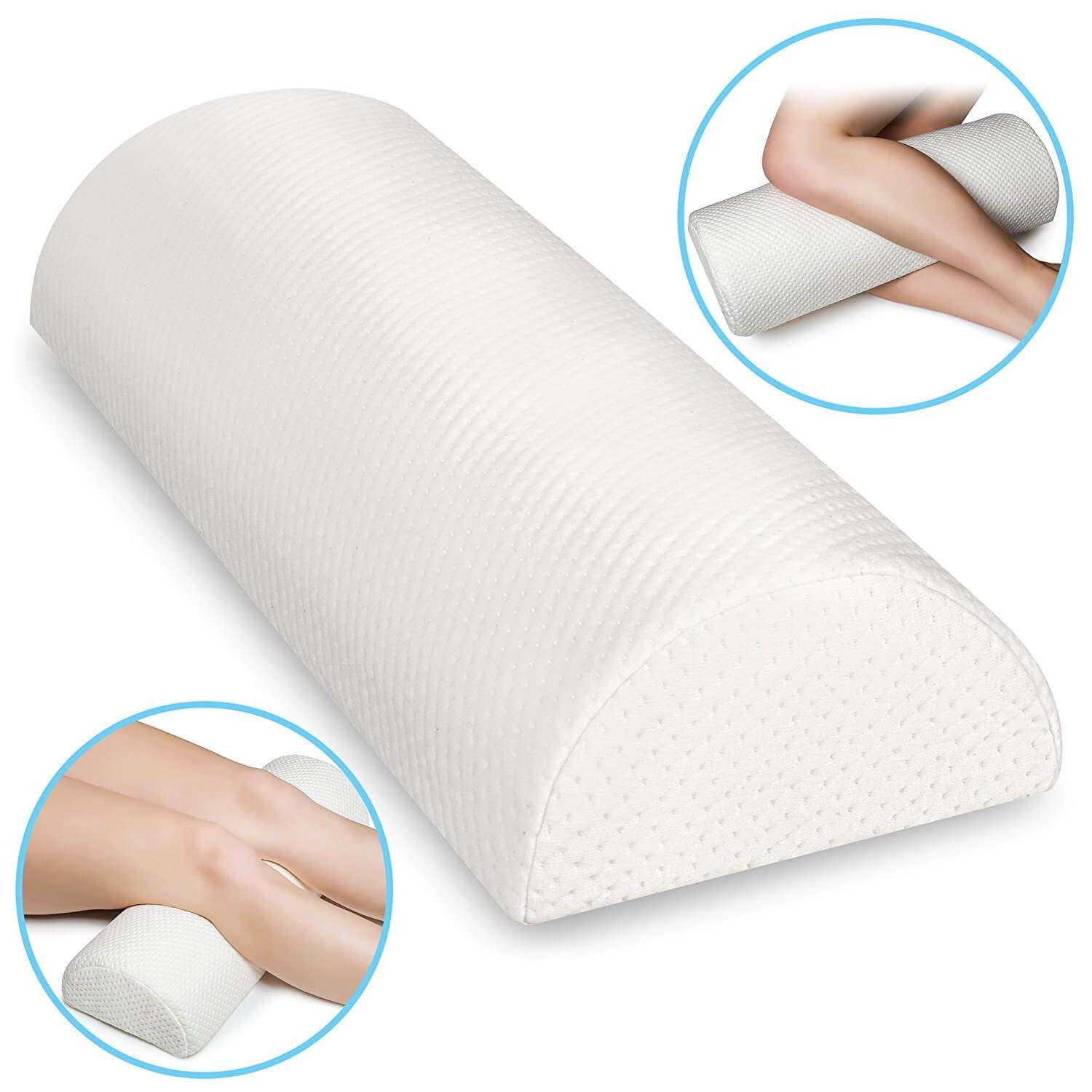 Best Popular Half Moon Foot Support Pillow for Office Rest, Pain Relief Bolster Improves Circulation with non-slip Bottom