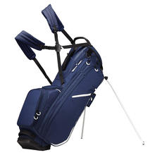 customized heat transfer high quality waterproof canvas stand golf bag with umbrella pocket golf outdoor sport bags