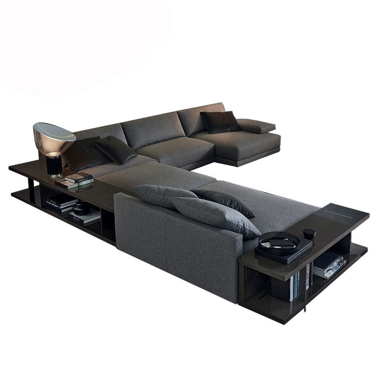 commercial Italian modern furniture design l shape fabric sofa set designs l shape living room sectional couch sofa