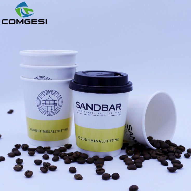 Comgesi best selling single double wall 8oz 12oz 16oz disposable hot drink paper cup with factory price