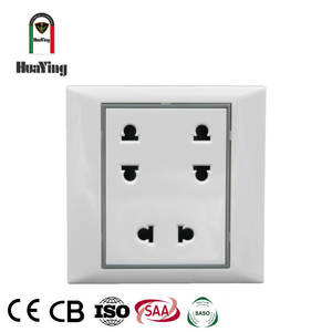 White CE SAA CCC cheap 3-gang multiple plug receptacle sockets outlet
