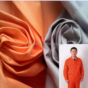 CVC fabric 16*12 108*56 60% cotton 40% polyester 270gsm for high quality workwear uniform
