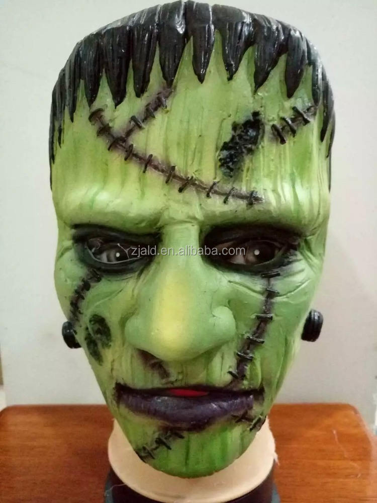 Halloween cheap Masquerade 3D PVC Green Monster Design Party Mask