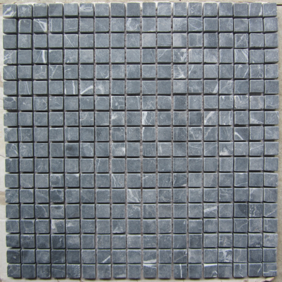 Anti Dust Black Marble Mosaic Rust Black color Natural Stone Mosaic Tile for Wall Decoration