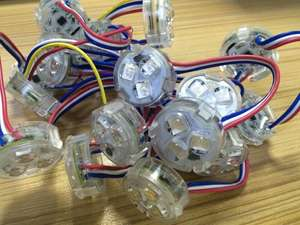Programmable DC12V 3 SMD5050 RGB Full Color Led Pixels Light IP66 for amusement park rides