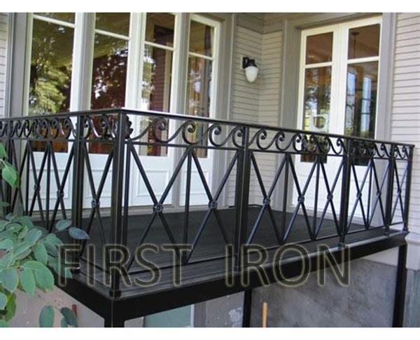 Ornamental Outdoor Wrought Iron Balcony Railings Eugene, Metal Balcony Guard Rail Design