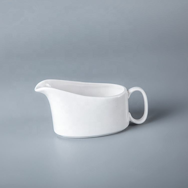 제조업체들 In China White Ceramic 육즙 Boat