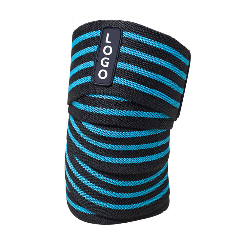 HYL-2631 custom elastic fitness equipment strengthen power weight lifting knee wraps