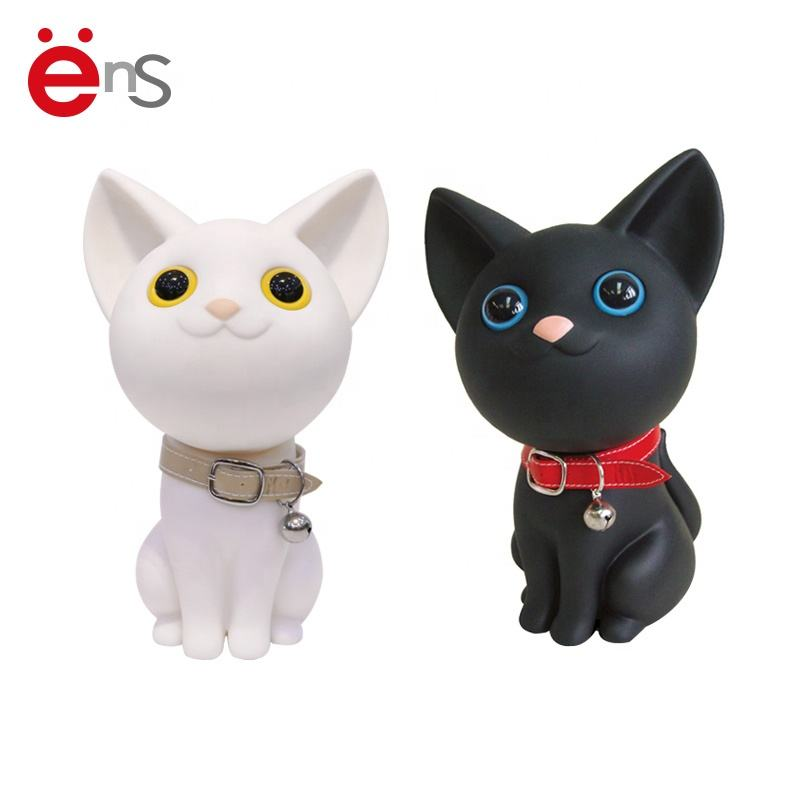 Custom Making Soft Vinyl cat Coin Bank Money Box / cat Money Saving Bank Factory