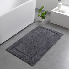 Soft Microfiber Polyester Non-Slip Rectangular Spa Mat Absorbent Accent Rug for Bathroom Vanity Bathtub Shower Mat