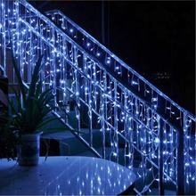 Home decoration led string curtain fairy light outdoor led christmas icicle lights
