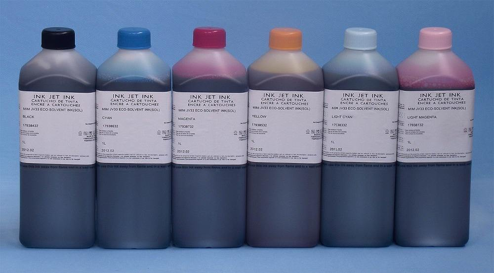 double 4 colors SS2 SS21 eco solvent ink Mimaki JV3 JV33 JV34 printer ink