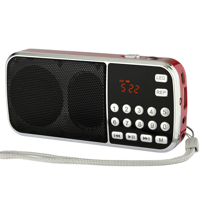 Tragbare mini mp3 audio player usb FM radio mit taschenlampe