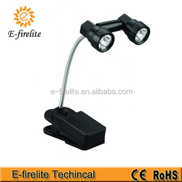 Led Book Light 6 LED Flexible Neck Book Light With Clip