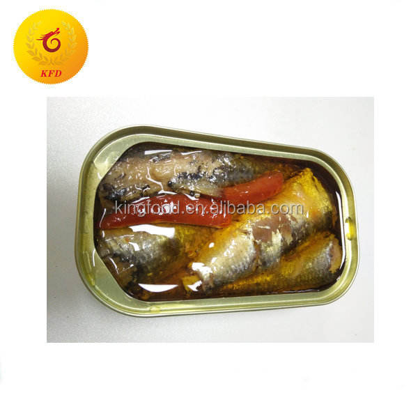 Sardine process canning tin fish in spicy oil from morocco