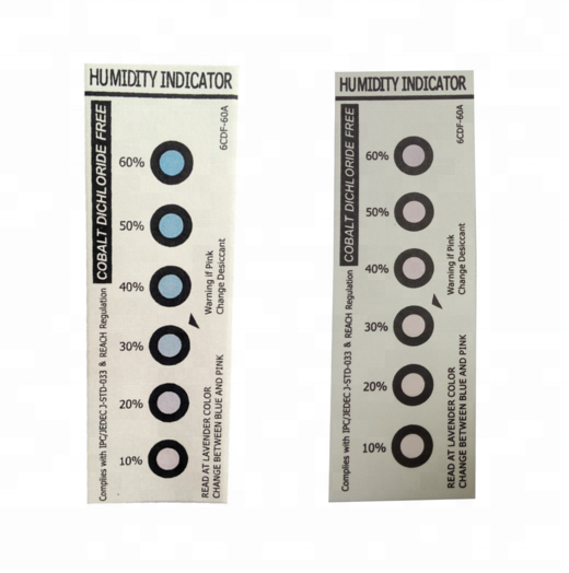 6 dots Cobalt Free Humidity Indicator Card, Paper, Sheet, Label, Sticker