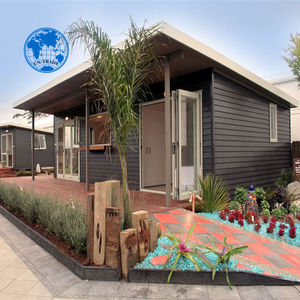 romantic wooden hurricane proof prefabricated beach bungalow
