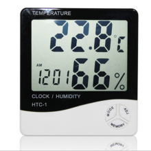 Digital Max/Min Thermometer Hygrometer Display HTC-1 CE Desk Weather Station Clock