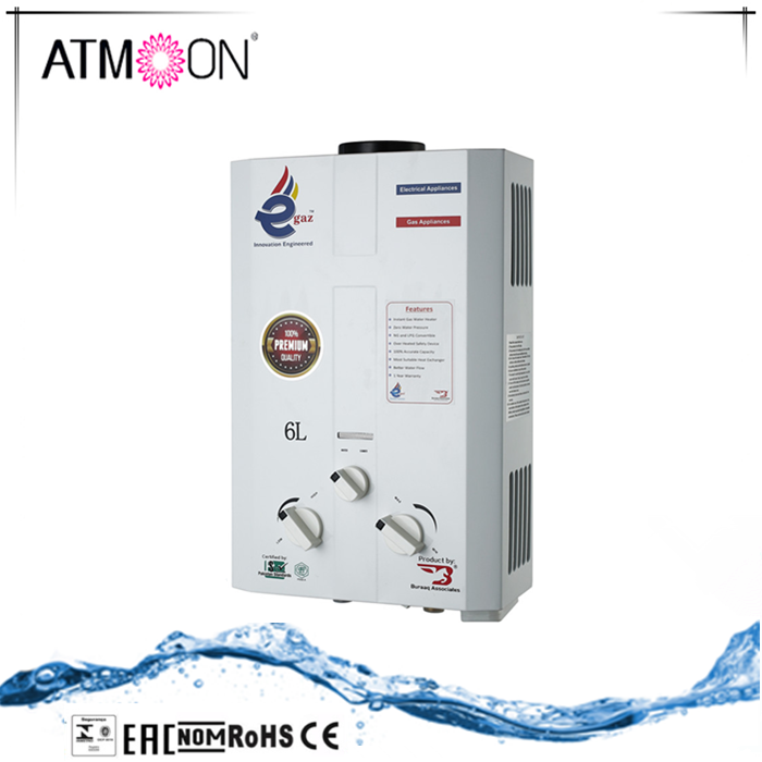 2017 hot selling instant wall hung gas water heater