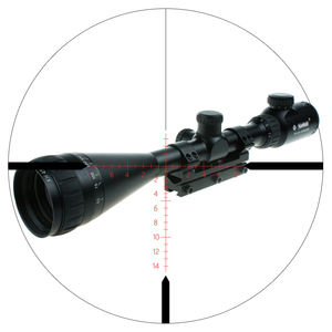 Militaire Us. Army Riflescope Tacctical Wapen 4-12x42 Mil-Dot Scope Met Mount Jacht Airsoft Gun Sight Voor Verkoop