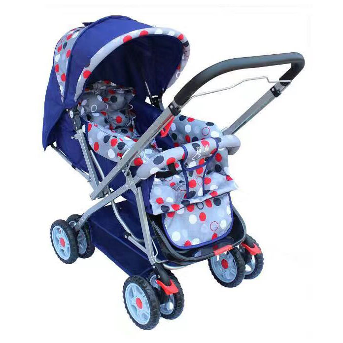 2018 Popular Reversible Handle Bar Baby Pram Double Layers Canopy Multifunctional Baby Stroller