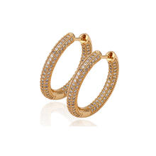 C211065-29678 Xuping Fashion bohemian jewelry, 18K gold Plated Jewelry Earrings Elegant Popular Huggie earrings with Glass