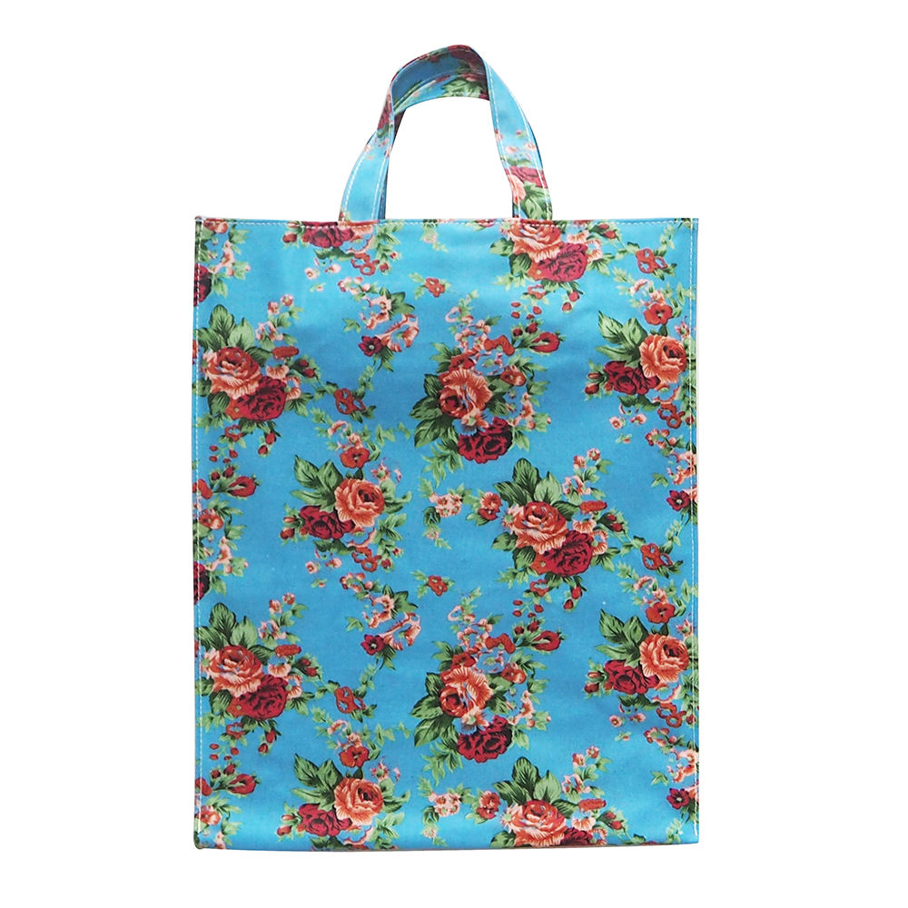 PVC rivestito di cotone shopping bag