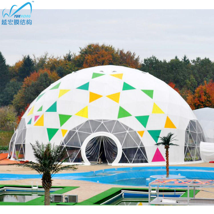 6m 8m 10m 20m 30m glamping hotel geodesic dome events tent