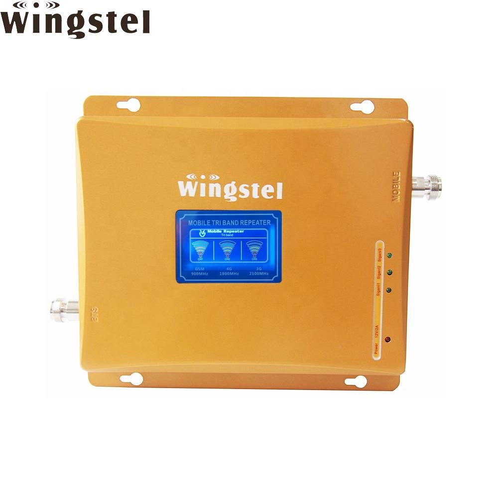 Top selling GSM 2G 3G 4G Triband Cellphone Signal Repeater LTE Network Mobile Signal Booster from Wingstel