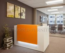 Popular Simple Design Orange and White Small Salon Reception Desk (SZ-RT055)