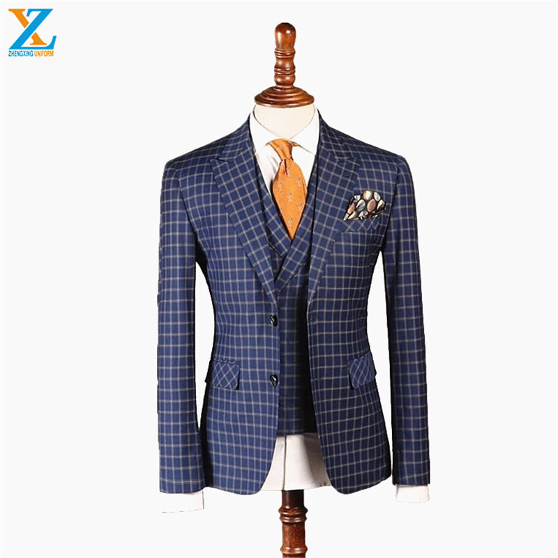 2019 new design contrast lapel bespoke men pant groom wedding suit from china