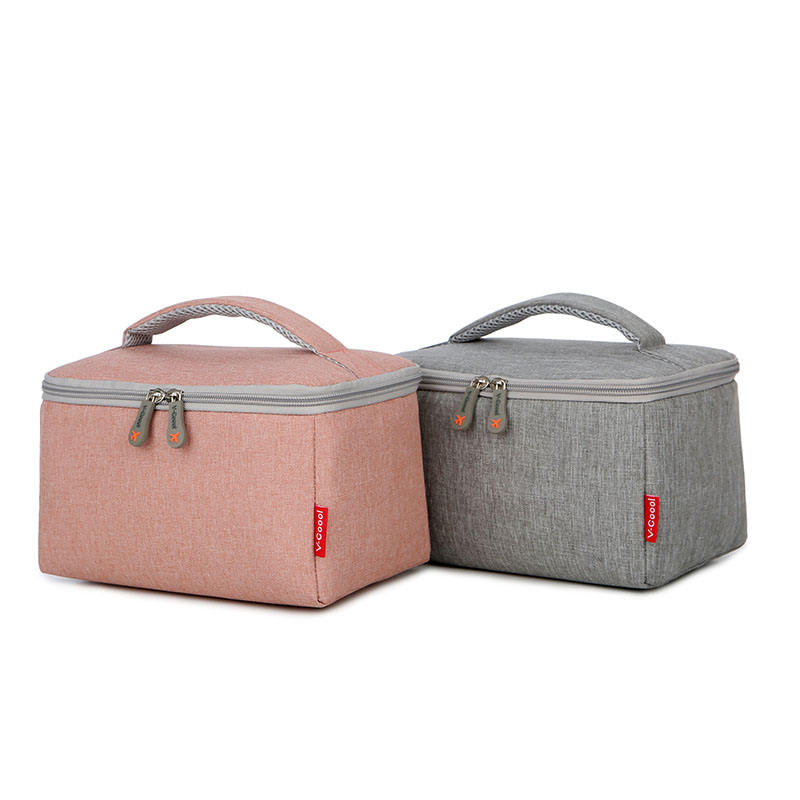 V-Coool wholesale hot sell soft handle high quality freezable lunch bag with zip closure