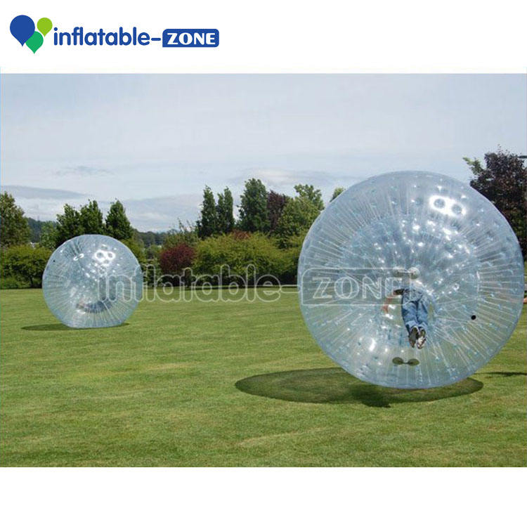 Person inside inflatable grass walking ball, Inflatable grass human zorb balls